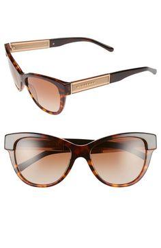 Burberry 55mm Retro Sunglasses