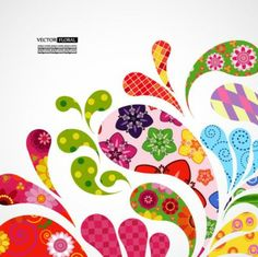 colorful pattern background 01 vector