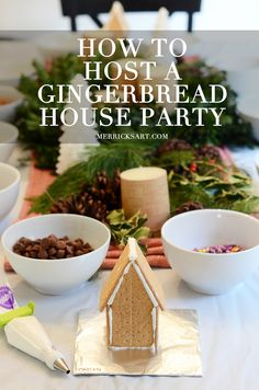 Everybody brings some candy to share! Brilliant! Merrick's Art // Style + Sewing for the Everyday Girl: HOW TO HOST A GINGERBREAD HOUSE PARTY