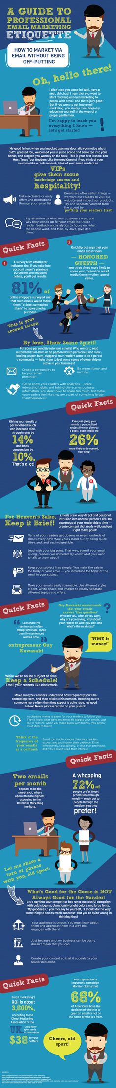 A Guide to Professional Email Marketing Etiquette #Infographic http://itz-my.com