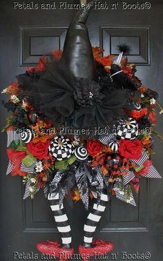 Halloween Wreath – Witch Wreath –