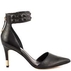 Evanne - Black Leather by Guess Footwear