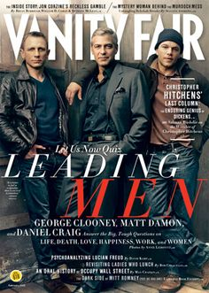 Daniel Craig: 'Vanity Fair' Cover with George Clooney & Matt Damon Daniel Craig, George Clooney, and Matt Damon take the cover of Vanity Fair's February 2012 issue, on newsstands in New York and Los Angeles on Wednesday (January… Christopher Hitchens, Cover Boy, Annie Leibovitz, Quiz, Matt Damon, Daniel Craig, George Clooney, Brad Pitt, Man Crush