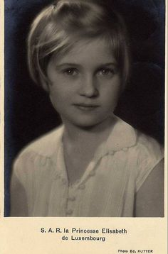 Princess Elisabeth of Luxembourg, daughter of Grand Duchess Charlotte