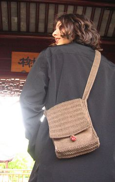 Go anywhere with the stylish and functional Hermes Shoulder Bag. Knitted bags are a useful way to put your skills to work; you can show off your awesome abilities when you take this bag with you. The Hermes Shoulder Bag pattern is an easy project to complete, so beginning knitters don't need to be intimidated. You'll find yourself dropping your wallet into this bag before you go sooner than you might expect.