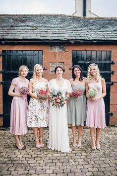 Rebeca wore a Jenny Packham gown for her homemade, Autumn wedding in the Lake District. Photography by Jessica Reeve.