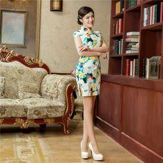Fashion women Charming Chinese women mini dress Party Prom Cheongsam Asian size | eBay