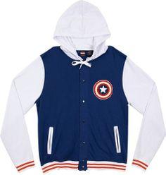 Sudadera Capitán América. Lettermans
