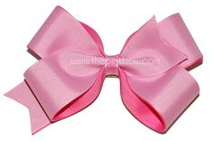 Large Pink and Hot Pink Bow  www.thepinkbow.com  Valentine's Day hairbows