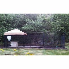 """Ultimate Welded Wire Steel Dog Kennel Color: Beige, Size: 72"""" H x 72"""" W x 144"""" L - http://www.thepuppy.org/ultimate-welded-wire-steel-dog-kennel-color-beige-size-72-h-x-72-w-x-144-l/"""