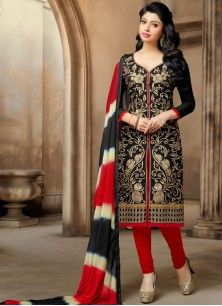 Charismatic Chanderi Churidar Suit