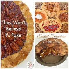 There's something about a home baked pie that fills your kitchen with warm, sweet goodness. It brings a smile to the grumpiest mood and a sense of welcome to those who enter. Fake pies by Everything Dawn Bakery Candle Treats are the perfect way to fake it when you don't want to bake it. The authentic aroma and design of each unique fake  pie will bring down home charm to any kitchen or dining area. From Southern pecan to meticulously designed lattice crust pies, to hand shaped lemon…