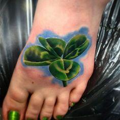 Realistic clover tattoo by Josh Herrera