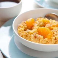 Millet prepared with oranges and dates is a fresh alternative to oatmeal.  www.edamam.com