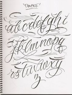 For Fancy Cursive Fonts Alphabet For Tattoos