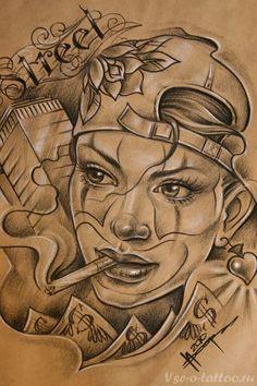 Татуировка-девушка