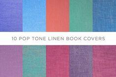 10 Pop Tone Linen Book Covers. Textures. $5.00