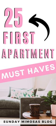Here is your ultimate first apartment checklist with 25 apartment essentials you actually need. This post will break down the must-have first apartment checklist essentials, college apartment essentials and first apartment decorating on a budget. #firstapartment #apartment #apartmentchecklist