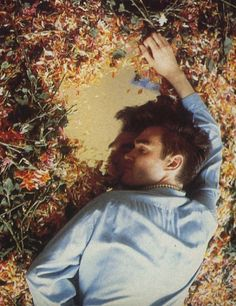 Poor Morrissey passed out in flowers.