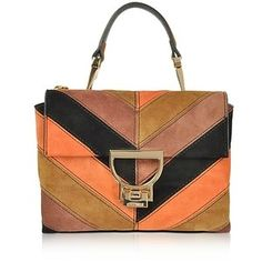 Coccinelle Handbags Arlettis Chevron Color Block Suede Mini Shoulder Bag