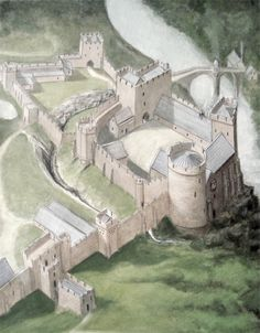 Barnard Castle, Durham was one of King Richard's strongholds by Geoffrey Wheeler Medieval Houses, Medieval Castle, Medieval Fantasy, Fantasy Places, Fantasy World, Barnard Castle, Historical Architecture, Gothic Architecture, Castles In England