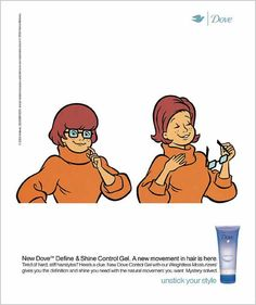 DOVE Define & Shine Control Gel: Scooby-Doo
