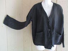 vintage FLAX Engelhart 3 button jacket M 50B #FLAXJeanneEngelhart #artsybohofunkylagenlook