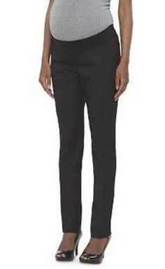 Liz Lange Maternity Jegging Under Belly Fitted Hip Thigh Stretch Black Size L XL