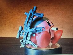 """Solid 'Snake' custom Kirby #amiibo via 3D Pat, twitter"