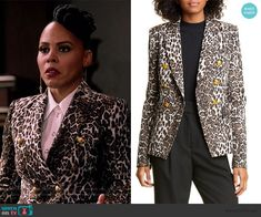 Tegan's double breasted leopard print blazer on How to Get Away with Murder King Outfit, Leopard Print Jacket, Studded Heels, Printed Blazer, How To Get Away, Other Outfits, Double Breasted, King Clothes, Fashion Outfits