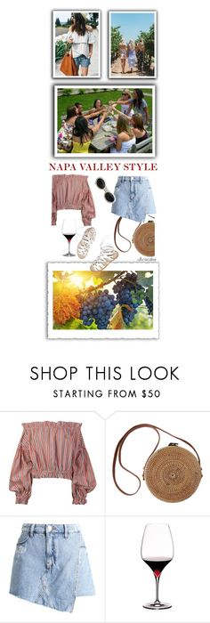 """""""Napa Valley Style"""" by ultracake ❤ liked on Polyvore featuring Vivienne Westwood Anglomania, River Island, Riedel, Transparente, ultracake, girlstrip and WineTastingOutfit"""