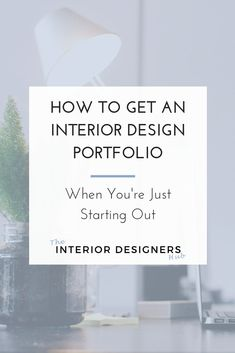When you're a new interior designer, you'll find that everyone wants to see your portfolio before will hire you.   That's perfectly understandable. Clients need to know that you have the skills to transform their homes.   But what do you do if you have never actually had a client before? How do you get a presentable portfolio?