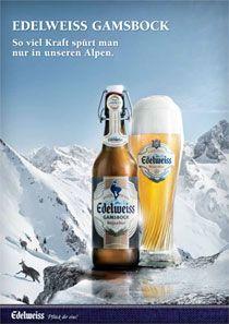 Edelweiss winter Beer Commercials, Edelweiss, Beer Poster, Wheat Beer, Beer Fest, Beer Brands, Ice Age, Light Beer, Advertising Design