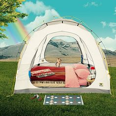 """This cushy setup gives new meaning to sleeping """"on the ground.""""      Tall and roomy tent. The Mountainsmith Conifer 5+ tent has a 6-foot ceiling and 117 square feet of floor space, with mesh panels that make it feel even bigger. $360; mountainsmith.com"""