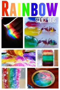 Rainbow Science Ideas- rainbows make science a whole lot more colorful for kids. - - Rainbow Science Ideas- rainbows make Preschool Science, Science Experiments Kids, Science Classroom, Science Fair, Teaching Science, Science For Kids, Science Projects, Projects For Kids, Art For Kids