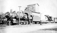 Michigan Central 7715 with a wreck train, passing through Onondaga in 1915.  [Charles Milliken photo, Doug Leffler Collection]