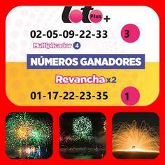 #LoteríaElectronica Loto Plus y Doble Revancha Viernes 28/7/2017