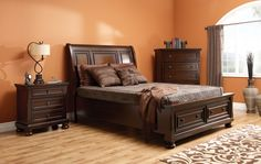 Just In at Reliable Home Furniture! Bed Medium Brown with Storage Drawers Sleigh Beds, Night Table, Beautiful Bedrooms, Queen Beds, Storage Drawers, Home Furniture, Medium Brown, Inspiration, Home Decor