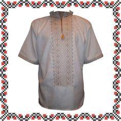 #вишиванка чоловіча на льоні шовковими нитками (Арт. 00023)