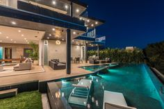 Multi-million home on the hills of Los Angeles has panoramic views by FINA Construction Group - CAANdesign Construction Group, Construction Services, Luxury Homes, Swimming Pools, Exterior, House Design, Mansions, Architecture, House Styles