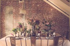Just because I love  the brick and metal with the wildflower and greenry arrangements.
