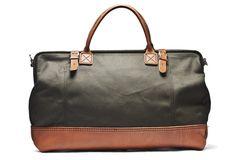 Kaufmann Mercantile Handmade Canvas & Leather Weekend Bag (Olive)