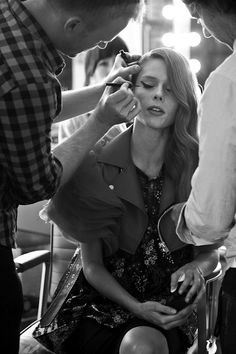 #Makeup backstage for Coco Rocha's shoot for The Room.