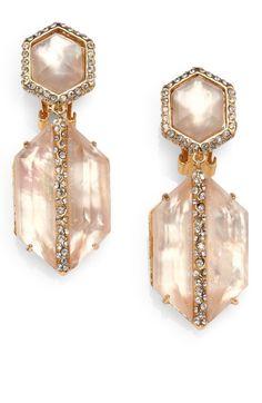Alexis Bittar | Citrine & Pearl Luxury Earrings | Sax 5th Ave, NY.