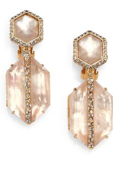 Alexis Bittar-Citrine & Pearl Luxury Earrings Sax 5th Ave, NY