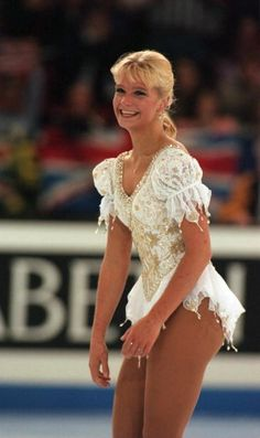 Nicole Bobek, White Figure Skating / Ice Skating dress inspiration for Sk8 Gr8 Designs