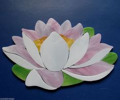 LOTUS WATERLILY Precut Stained Glass Kit Mosaic Inlay. Create your own mosaic koi pond. Many original designs selling on ebay.