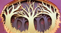 Forest Papercuts by Polly Lindsay, via Behance