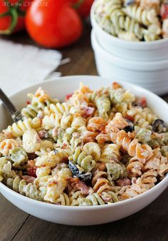 I've got one delicious pasta salad to share with you today! It's Bacon Ranch Pasta Salad and it is divine. It is a variation to the classic and out of this world good! This side dish is bursting with flavor. The creamy dressing combined with a few extra goodies coats the noodles perfectly. This... Read More »