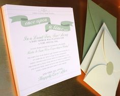 Cutest baby shower invitation // Once Upon a Time...In a Land Far, Far Away. A Baby Shower was Planned for a Very Special Day
